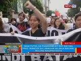 BP: Mga tutol sa paghihimlay kay dating Pres. Marcos sa LNMB, muling nagprotesta