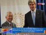 NTG: EDCA, tuloy na sabi ni DFA Sec. Yasay matapos nilang magpulong ni US Sec. of State John Kerry