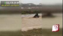 Mersin'de sele kapılan baba kızın korku dolu anları | En Son Haber