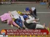 UB: Mga militante, tuloy ang protesta vs. paghihimlay kay ex-Pres. Marcos sa LNMB