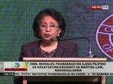 BT: Omb. Morales: Pagbabago ng ilang Pilipino sa kasaysayan kaugnay sa Martial Law, nakakaalarma