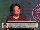 Marcos Burial: Omb. Morales,   naaalarma sa pagbalewala raw ng ilang   pilipino sa kasaysayan
