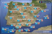 Previsión del tiempo para este jueves 29 de diciembre