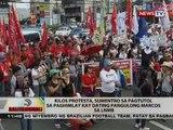 Kilos protesta, sumentro sa pagtutol sa paghimlay kay dating pangulong Marcos sa LNMB