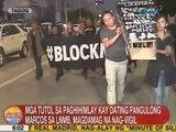 UB: Mga tutol sa paghihimlay kay ex-Pres. Marcos sa LNMB, magdamag nag-vigil