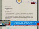 BP: VP Leni Robredo, nagbitiw bilang chairperson ng HUDCC
