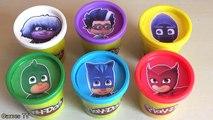 PJ MASKS Learn Colors with Disney Jr Owlette, Catboy, Gekko, Romeo Play Doh Toy Surprise