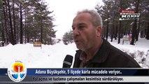 Büyükşehir Haber - Adana Büyükşehir 5 İlçede Karla Mücadele Veriyor