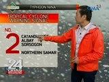 Lugar na may storm warning signal dahil sa Bagyong  Nina, nadagdagan pa