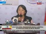 BT: Bagyong Nina, inaasahang magla-landfall sa araw ng Pasko sa Bicol Region
