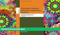Download [PDF]  Information Systems: Education, Applications, Research: 7th SIGSAND/PLAIS