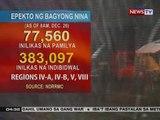 BP: NDRRMC: Epekto ng bagyong Nina