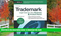 READ book  Trademark: Legal Care for Your Business   Product Name Stephen Fishman J.D. FREE BOOK