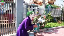 Frozen Elsa vs Spiderman  Joker Fake Santa stolen Toys Cars Spiderman Police Kids & Police Arrest!