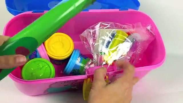 ☺Peppa Pig Picnic PlayDough Shapes and Fruit PlaySet Peppas Picnic Set with Play Doh Toy Video