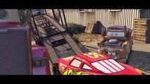 Disney Сars 3 (2017) crash Lightning McQueen & Dinoco King 43 & Hudson Hornet Tow Mater Mack Truck