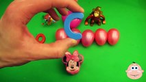 Kinder Surprise Egg Learn A Word! Spelling Play Doh Shapes! Lesson 12Teaching Letters Opening Eggs