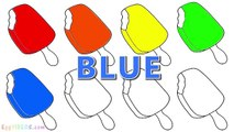 Learn Colors with Surprise Egg Duck Coloring Pages (26) Rainbow Ice Cream Popsicle Cone