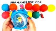 Surprise Balls - Surprise Eggs Play Doh - Minions - School Bus - King Lion - Blue dolphin toy