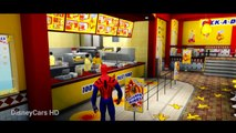 FLASH MCQUEEN CARS! Spiderman & Disney Pixar #Cars Lightning McQueen Flash   Nursery Rhymes for Kids