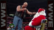 Cold' drops Santa Claus with a Stunner - Raw, Dec. 22, 1997