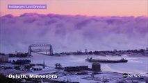 Massive Sea Smoke Wall Forms Over Lake Superior-s14vF7XFaz0