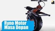 Ryno Motor Masa Depan Dengan Hanya Satu Roda