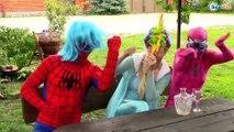 Elsa Drop Baby! vs Spiderman Frozen Elsa vs Pinks Spidey Girl Funny Videos Super Heroes