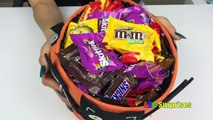 Learn to Count with Candy Skittles M&M Snickers Butterfinger Shopkins Egg Surpris