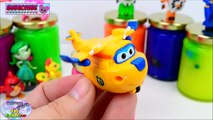 Learn Colors Super Wings Slime Surprise Toys 슈퍼 날개 Paw Patrol Surprise Egg and Toy Collector SETC