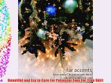 Fur Accents Christmas Holiday Tree Skirt Plush Shaggy Faux Fur (Ivory Off White 60 Diameter)