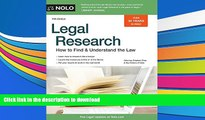 [PDF]  Legal Research: How to Find   Understand the Law Stephen Elias Pre Order