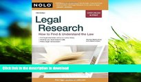 FREE [DOWNLOAD] Legal Research: How to Find   Understand the Law Stephen Elias Attorney For Ipad