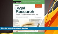 [Download]  Legal Research: How to Find   Understand the Law Stephen Elias Full Book