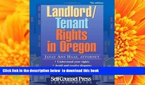 [Download]  Landlord/Tenant Rights in Oregon (Legal Series) Janay Ann Haas Haas Full Book