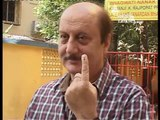 Anupam Kher, Shakti Kapoor and Kailash Kher vote for their Canditates