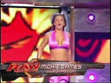 WWE RAW 2007 Melina, Beth Phoenix and Jillian Hall vs  Mickie James, Candice Michelle and Maria