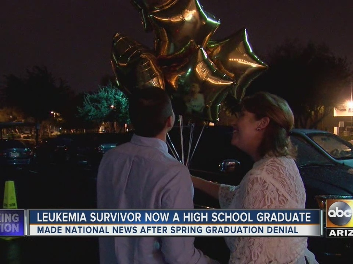 Leukemia survivor denied chance to graduate, but he's given a special second chance