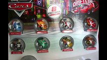 Disney Cars Exclusive METALLIC Micro Drifters 8 Pack with Lightning McQueen and Silver Shu Todoroki