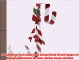 Factory Direct Craft Candy Cane Striped Metal Wreath Hanger for Displaying Christmas Wreaths