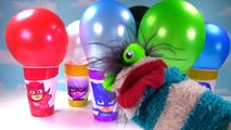 PJ MASKS Balloon Toy Surprise Cups! Disney Jr Catboy, Owlette, Gekko, Luna Girl, Romeo