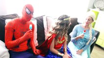 Wonder Woman Twins Lift Car Vs Joker Spiderman and Elsa Pink Spidergirl twins Anna Flying Superhero