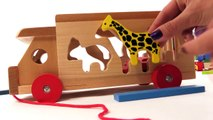 Kid's BRIO Toys - ZOO TRUCK JIGSAW- Learn Wild Animals PUZZLE! Learn to Count Games for Children