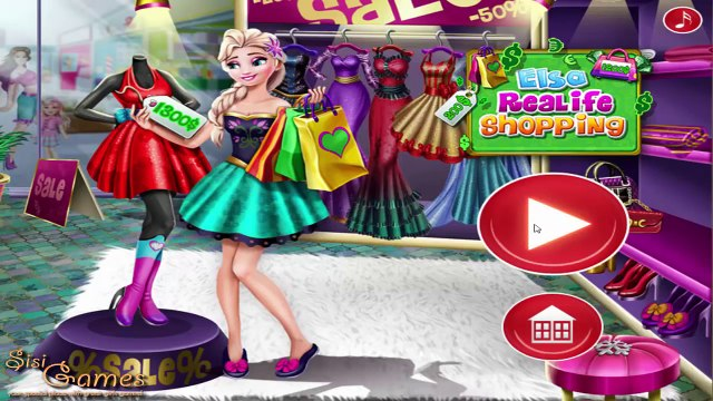 Disney Frozen Games - Princess Elsa Real Life Shopping - Baby Videos Games For Girls