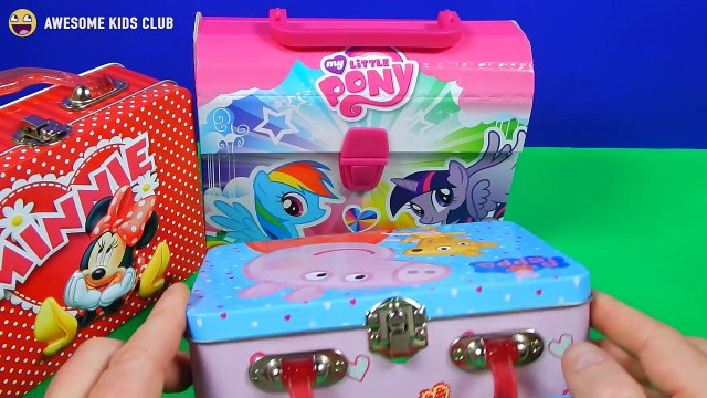 My Little Pony, Peppa Pig and Minnie Mouse Lunch Boxes