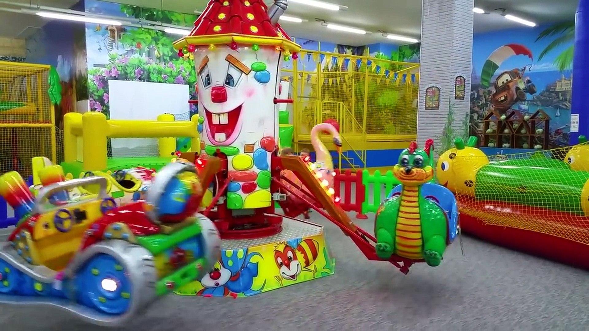 KIDS FUN CENTER entertainment center for kids from Nastushik maze inflatable slides, carousel