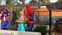 FROZEN ELSA vs DOCTOR! Pregnant Elsa got HURT! w/ Joker and Pink spidergirl Maleficent Superheroes