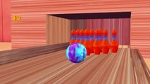 Learning Colors With Colors 3D Bowling Game | Teaching Colors | 3D Colors Nursery Rhymes
