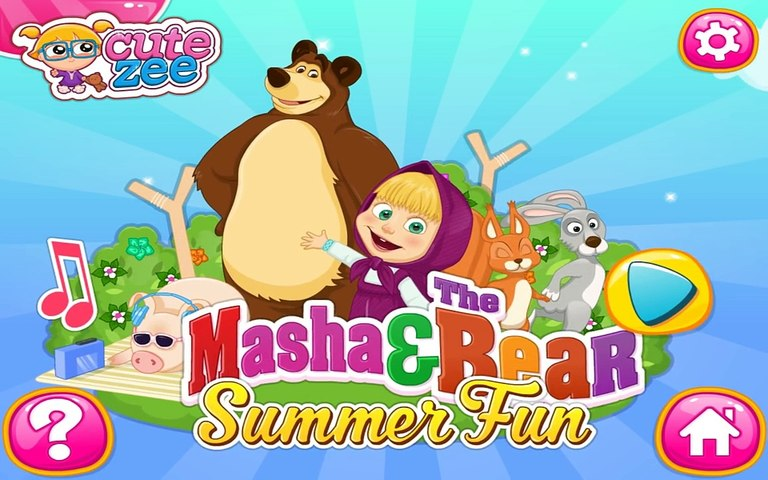 Masha and The Bear Summer Fun - Funny Game For Kids