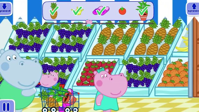 Peppa Hippo in the Supermarket - Shopping App for Kids